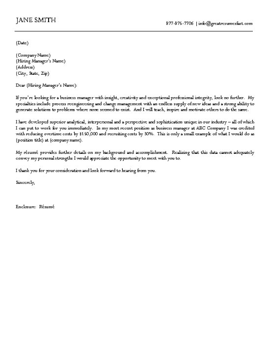professional business letter example