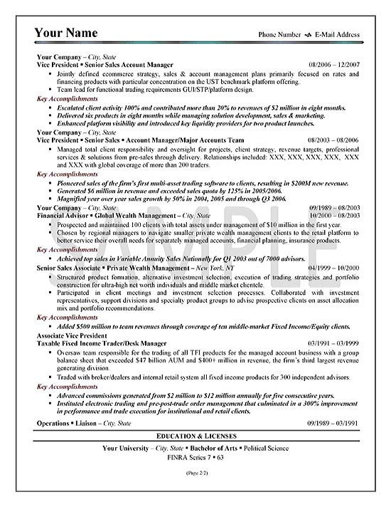 executive sales resume example