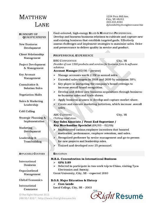 Software Sales Representative Resume Examples