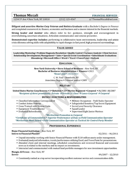Economics College Student Resume