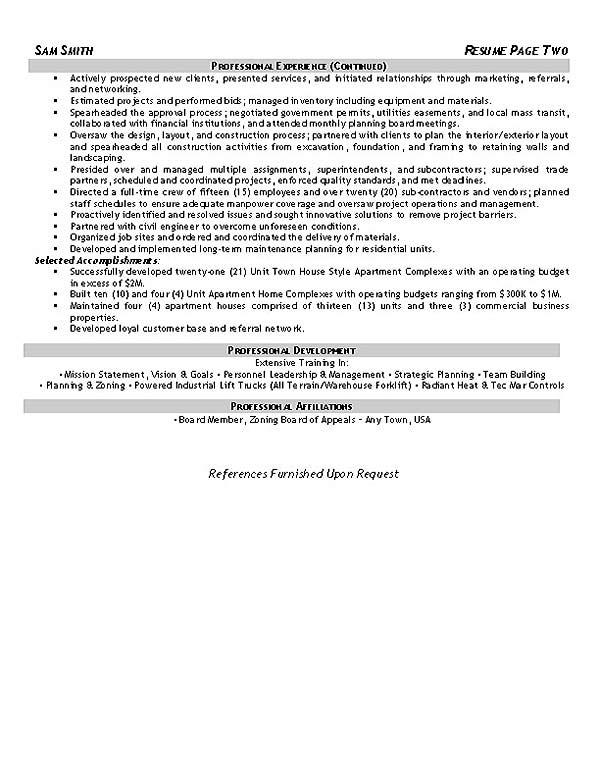 Construction Safety Coordinator Resume Example