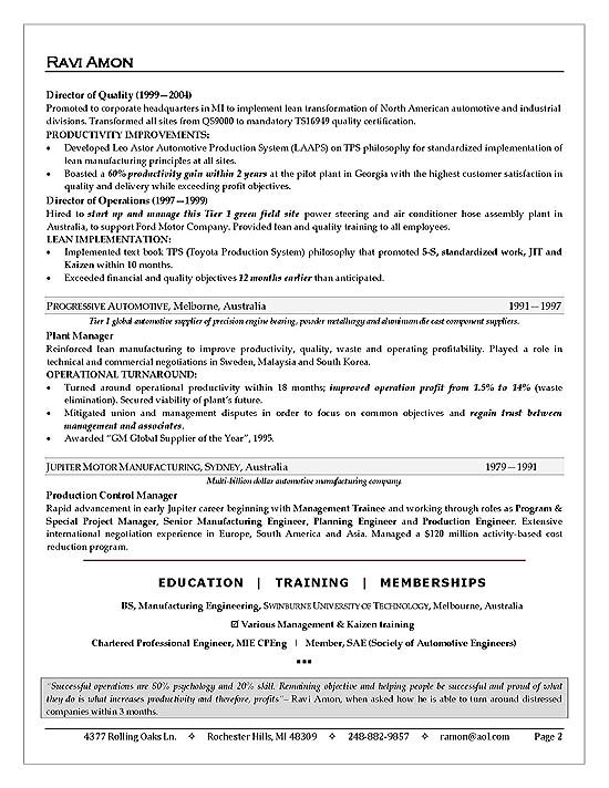 Delightful Business Operations Executive Resume Sample