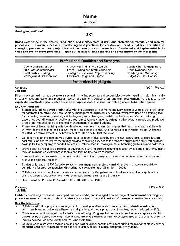 Project management executive resume example altavistaventures Image collections