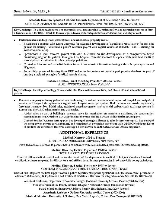 clinical product research resume example