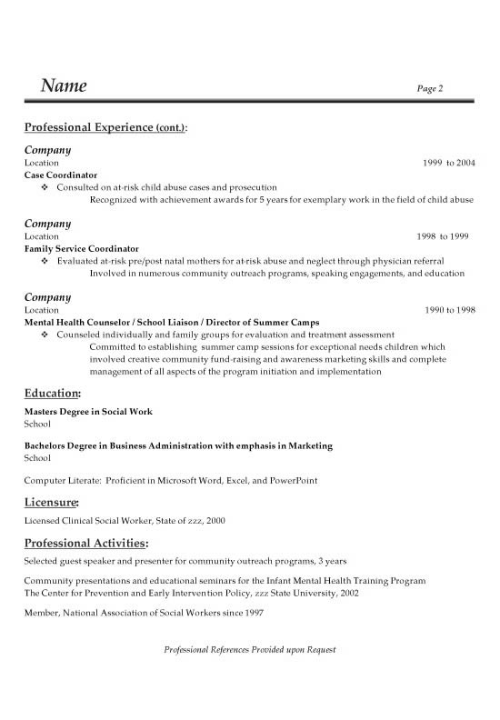 resume for sales representative