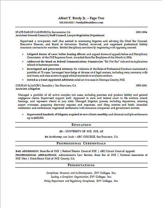 Legal Compliance Officer Resume Example
