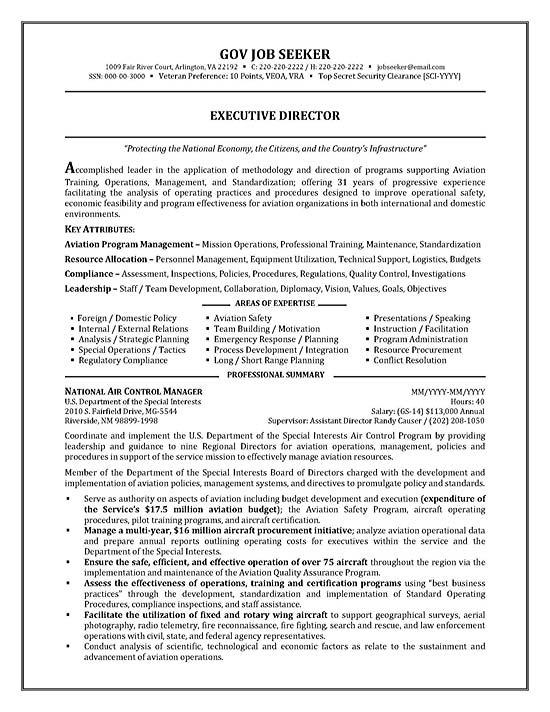 government resume example - Government Resume Samples