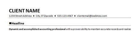 resume heading section
