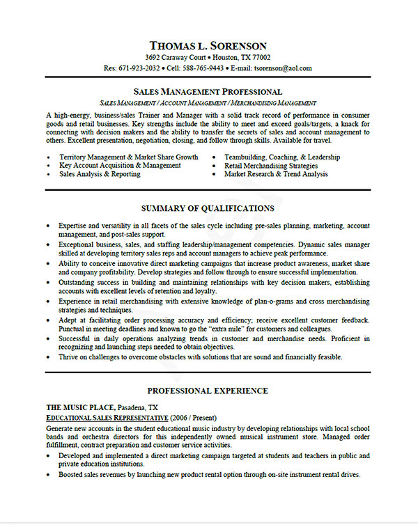 resume example written by professional