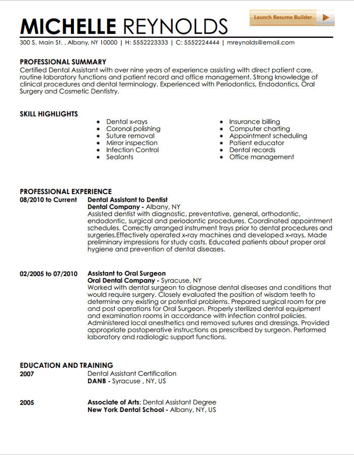 Dental assistant resume template for Dental hygiene cover letter new grad
