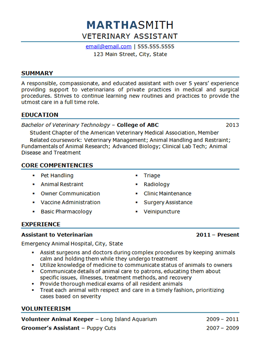Example Medical Office Assistant Resume