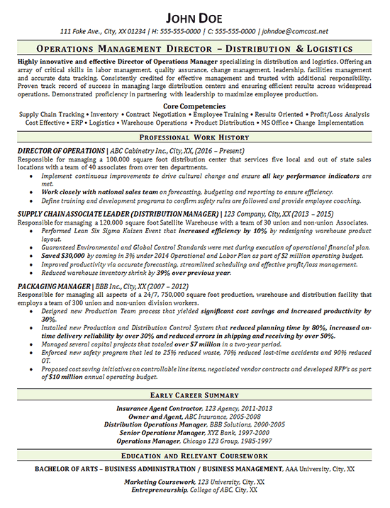 Retail Operation Manager Resume Objective