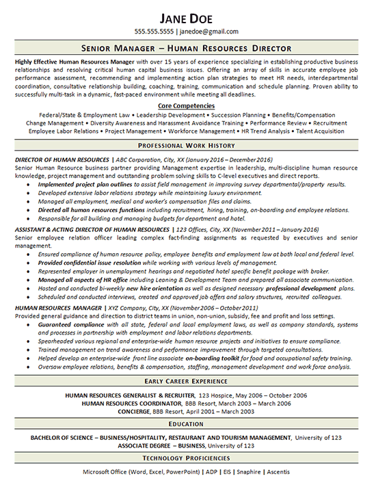 View Human Resources Manager Resume Example - Human-resource-manager-resume-sample